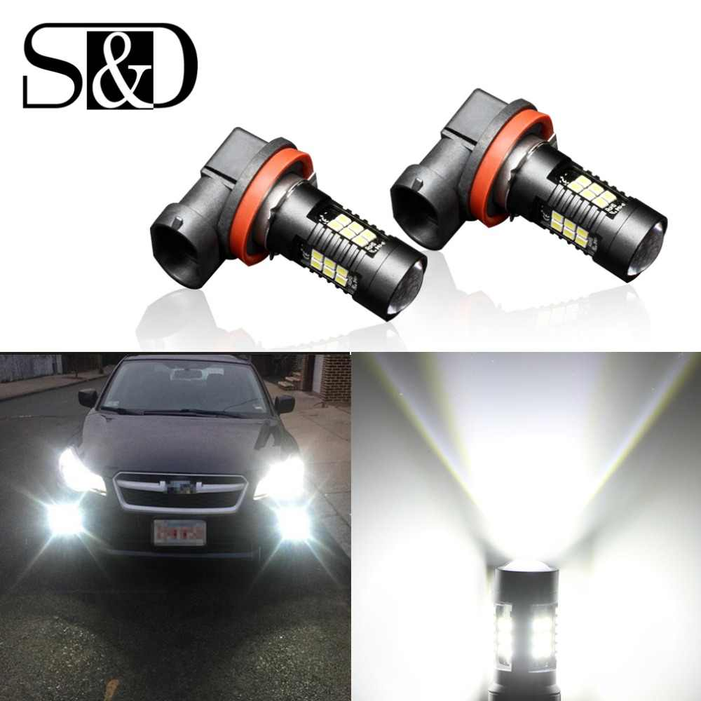 2Pcs H8 H11 Led Bulb HB4 Led HB3 9006 9005 Fog Lights 1200LM 6000K 12V White DRL Daytime Running Car Lamp Auto Light Bulbs