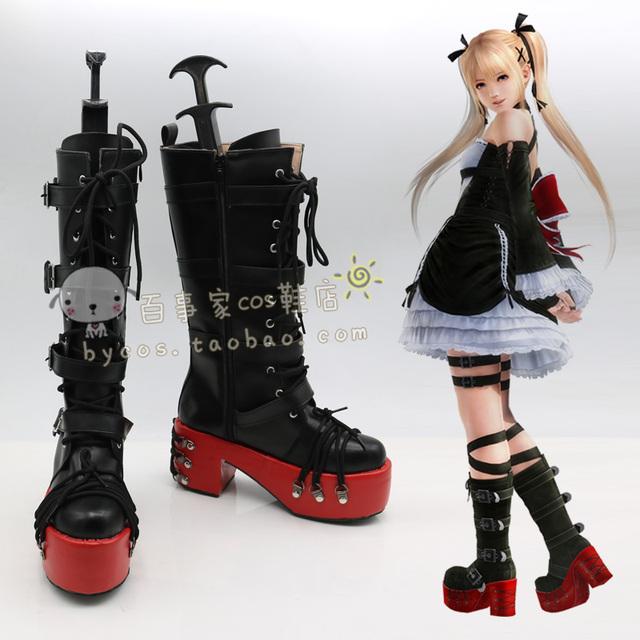 Dead or Alive 5 Rosa María Zapatos Boots Por Encargo de cosplay femeninos cos zapatos