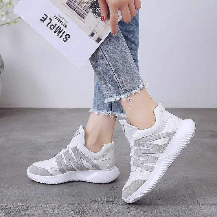 2019 Summer Women Casual Shoes Mesh Platform White Sneakers Lace Up Sewing Wedges V Shoes for Women Tenis Jogging Zapatos Mujer in Women 39 s Vulcanize Shoes from Shoes