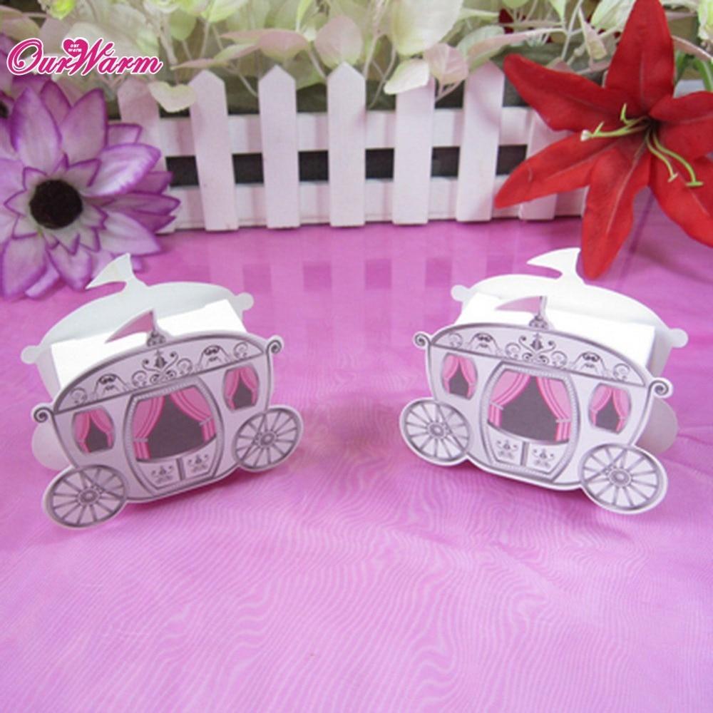 50pcs/lot Wedding Party Favors Box Candy Gift Box Cinderella ...