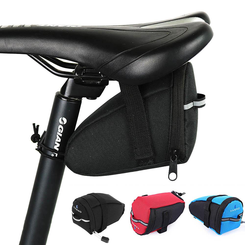 Bicycle Bike Pannier Saddle Bag Tail Rear Cycling Under Seat Pouch Storage Box