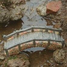 Her gün Koleksiyonu Miniaturas Peri Bahçe Reçine Parke Taşı Köprü Ahşap Köprü Kişiselleştirilmiş Ev Dekor Masaüstü Süs