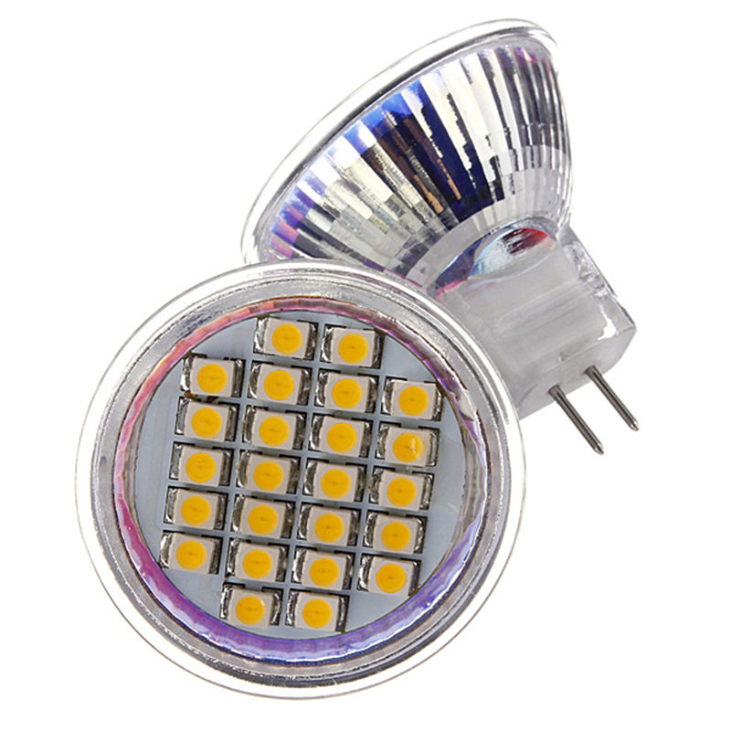 LED Light Bulb MR11 24 SMD 3528 1210 Energy Saving Lamp Spotlight Bulb Warm White Pure White Lights Lighting AC/DC12V