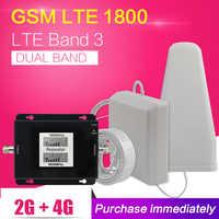 500 mètre carré 2G 4G GSM 900 LTE 1800 double bande téléphone portable Signal répéteur GSM 4G LTE cellulaire amplificateur amplificateur antenne ensemble