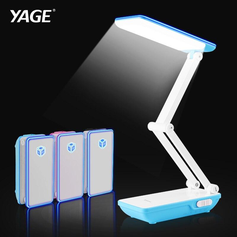 YAGE Desk Lamp Table Lamp 32Pcs LED Desk Lamp Foldable 3 Layer Body 800mAh Battery Colorful Night Light Lamp Night Light Cloud in Desk Lamps from Lights Lighting