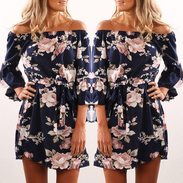 ec531ee926d05 2018-Women-Dress-Summer-Sexy-Off-Shoulder-Floral-Print-Chiffon-Dress -Boho-Style-Short-Party-Beach.jpg_640x640.jpg