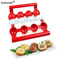 KeytKeythemelife Newbie Meatballs Maker Meat Fish Ball Mold Stuffed Ball Maker Kitchen Homemade Stuffed Meatballs Cooking