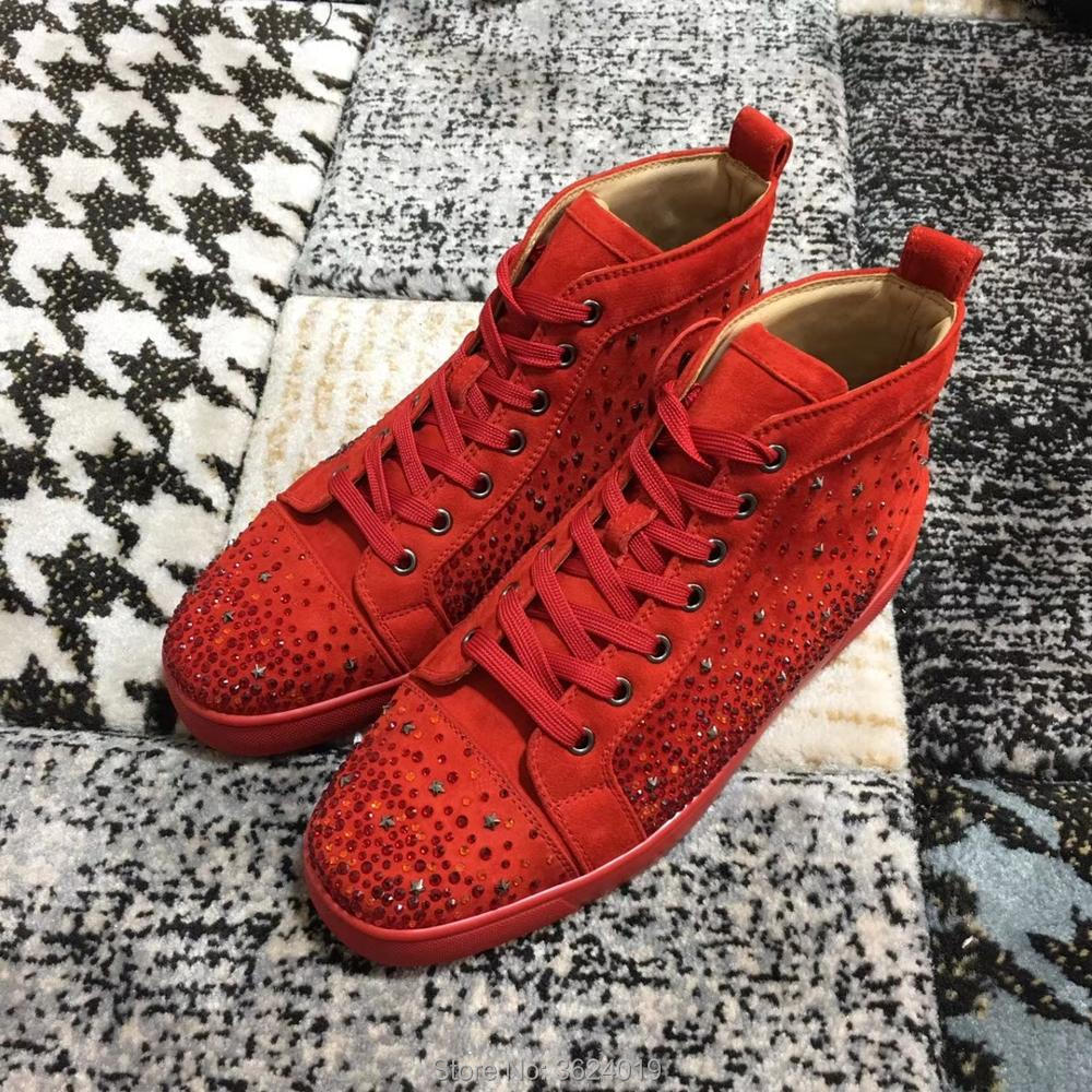 Star Outdoor Casual Andgz Cl Mode Turnschuhe Flache Sport Cut Böden Für Loafer Leder Red Rot Mann Diamant High Up Lace Schuhe 8YHqYdw