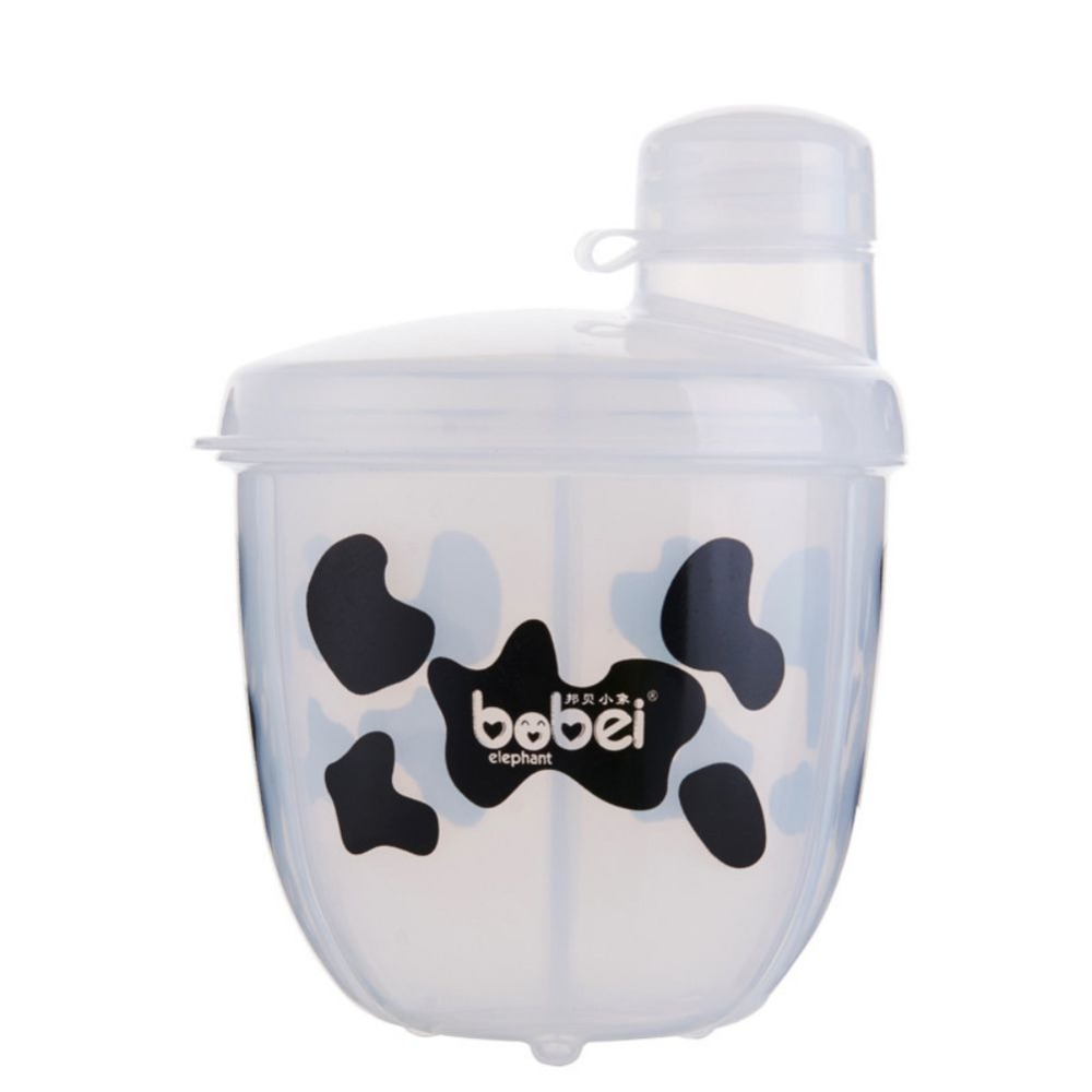 Baby Food Storage BPA Milk Powder Formula Dispenser Food Container Printed Three Lattice Feeding Boxes For Baby Travel