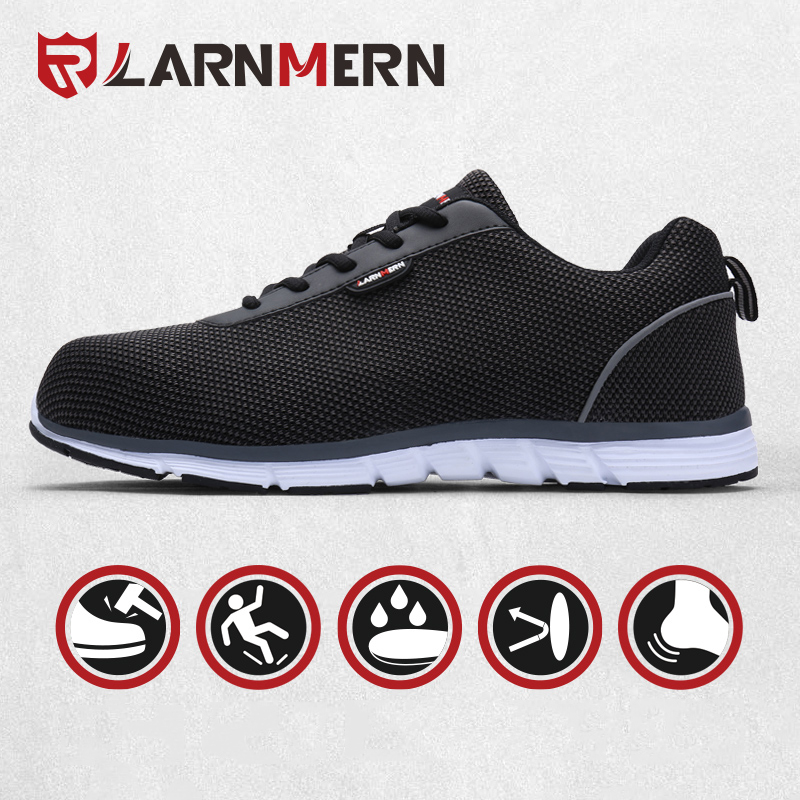 LARNMER Industrial Security Sneakers Metal Toe Non-Slip Reflective Light-weight Breathable Sneakers Protecting Footwear Put on-resistant Work & Security Boots, Low cost Work & Security Boots, LARNMER Industrial Security Sneakers...