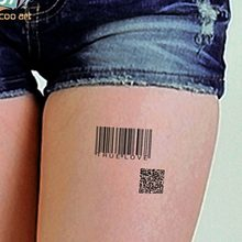 "Waterdichte Tijdelijke Tattoo Sticker Surf bar code engels woord ""ware liefde"" tatto stickers flash tatoo nep tatoeages voor vrouwen mannen(China)"