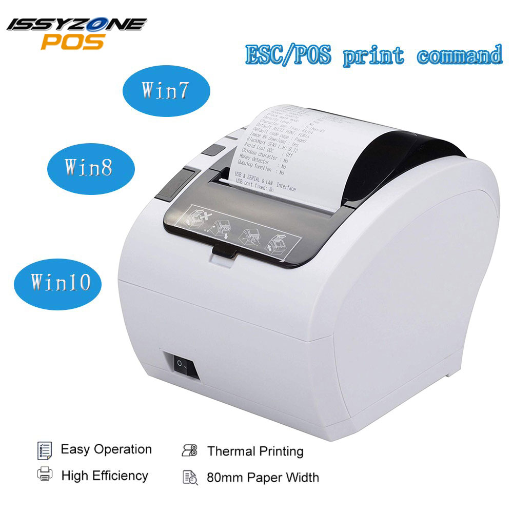 Thermal Receipt 80mm 58mm Printer Automatic cutter 300mm s Barcode LOGO POS Printer USB Ethernet Bluetooth