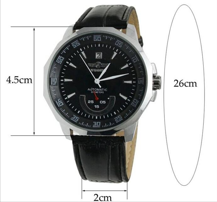 HTB10NtLkYZnBKNjSZFhq6A.oXXaI Relogio Masculino Winner Brand New Men's Automatic Mechanical Watches Leather Strap Watch Fashion Sports Men luxury Wristwatches