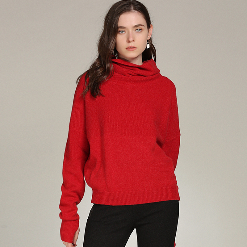 c486f22f36be2 100% Cashmere Sweater Women Simple Design Turtleneck Long Sleeves 4 Colors  Ladies Casual Pullovers Knitwear