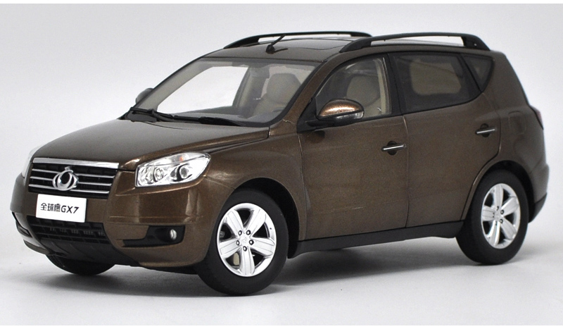 1:18 Diecast Model for Geely Gleagle Emgrand GX7 Brown SUV Alloy Toy Car Collection Gifts X7 geely gc7 emgrand x7 emgrarandx7 ex7 suv car timing chain repair kit