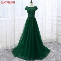 Emerald Xanh Dài Ren Evening Dresses Đảng Phụ Nữ Xinh Đẹp Sequins Đính Cườm Prom Evening Gowns Formal Dresses Mặc