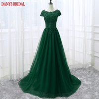 Emerald Green Long Lace Evening Dresses Party Beautiful Women Sequins Beaded Prom Formal Evening Gowns Dresses
