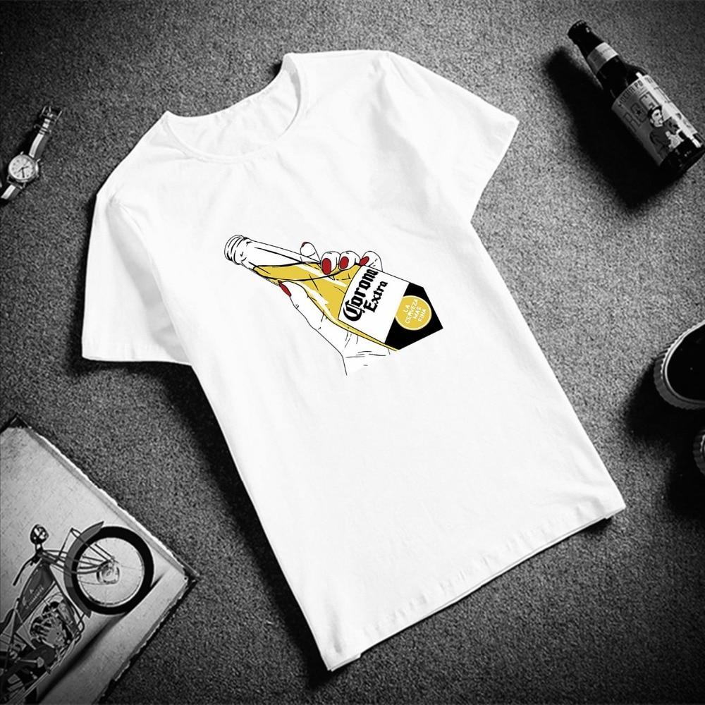 New 100% Cotton Fashion Tshirt Aesthetics Beer POP Art Print Short Sleeve Tops  Tees Fashion Casual T Shirt Brand Clothing