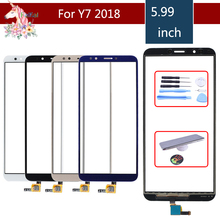 10pcs/pcs Touch For Huawei Y7 2018 PRIME Screen Pro Panel Sensor Digitizer Front Glass Outer Lens