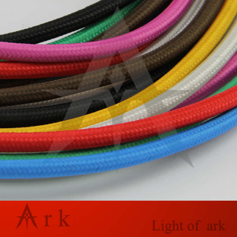 2075 10m Lot Edison Textile Cable Fabric Wire Chandelier Pendant Antique Lamp Wiring Wires Braided Cloth Electrical Vintage Cord