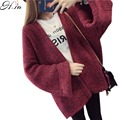 2016 Autumn Winter Women Oversized Sweater Cardigans Loose Style Open Stitch Casual V neck Poncho Femme Oversized Coat Winter