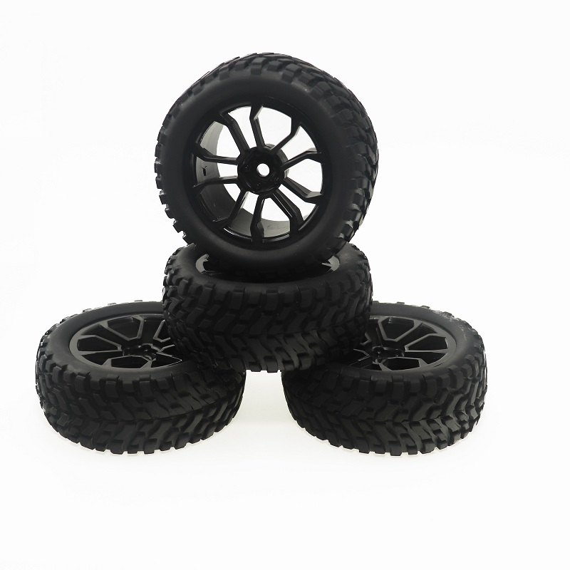 4PCS 1/10 RC Rally Car Tires Rubber tires with Wheel Rims for 1:10 RC Rally Car Tires Rubber tires with Wheel Rims f