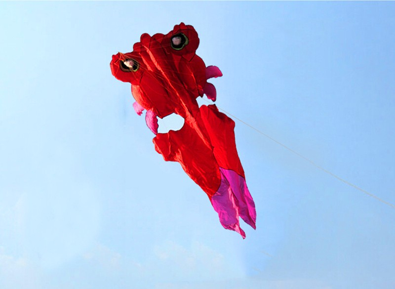 Высокое качество, воздушный змей, 4,2 м, красная бабочка, хвост, Золотая Рыба, мягкий воздушный змей с cointrol bar line wei kite factory walk
