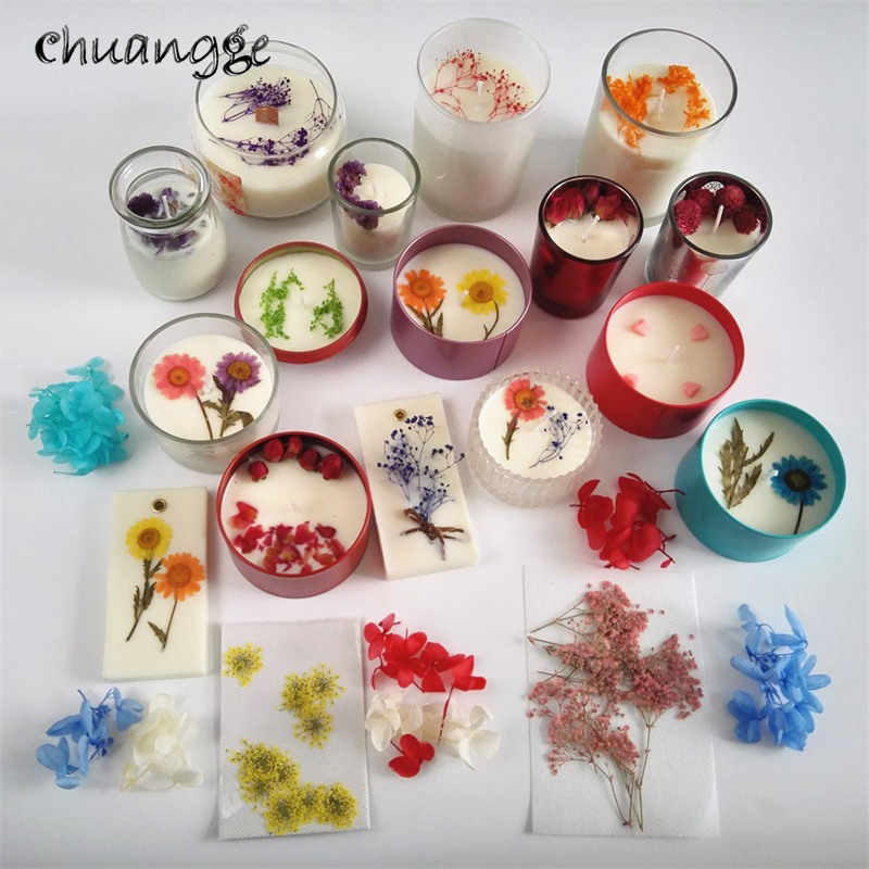 Tea Candle Decorative Flower Petal DIY Soy Wax Pure Natural Landscaping Raw Material Food Grade 5G For Glass Tea Candle Holder