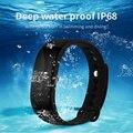 Monitor de Freqüência Cardíaca banda Inteligente V66 IP68 Bluetooth 4.0 Chamada SMS lembrete pulseira para ios android pk d21 xiaomi mi banda 2 fitbit