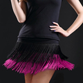 2017 Women's vestidos Latin Dance Skirt Double Layer Tassel Short Skirt Samba Sexy Lady Dance short Skirt Female Clothes