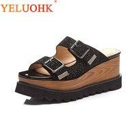 Platform Slippers Women Top Quality Summer Slippers High Heel Women Slippers 8 CM