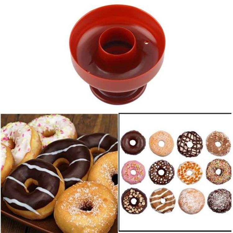 1 PC DIY Donuts Maker Mold Food -Grade Plastic Doughnuts Cutter Fondant Cake Bread Desserts Bakery Mould