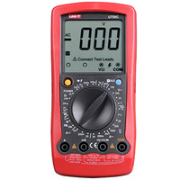 UNI T UT58C Digital Multimeters Full LCD Display AC/DC Voltage Current Resistance Temperature Frequency Capacitance Tester