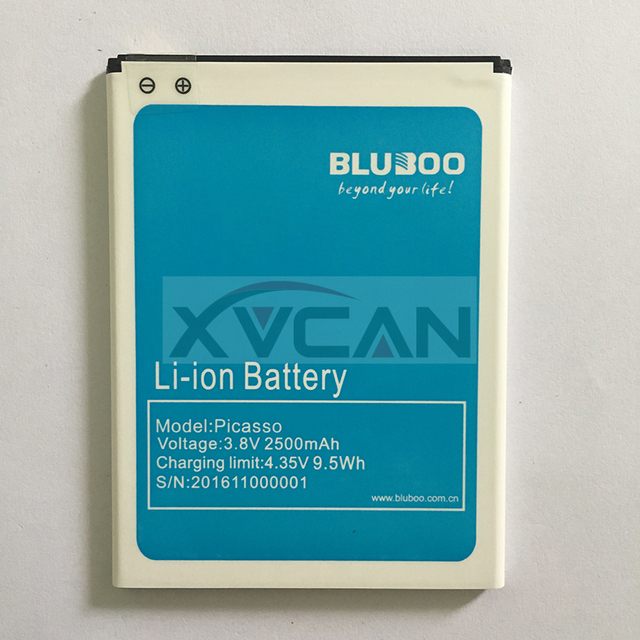 100% Original Bluboo Picasso Battery Replacement 2500mAh Back up Battery For Bluboo Picasso Mobile Phone