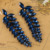 Azul Royal Brinco Mulheres Melhores Acessórios Do Casamento Noble Longo Colar de Strass Brincos Grandes Pendientes Aretes Orelhas Dos Homens Relogio