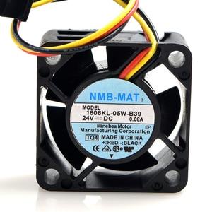 Image 1 - 40 pcs 40*40*20mm 1608KL 05W B39 4020 24 V 0.08A Fanuc Ventilador Do Dissipador de Calor para Para NMB