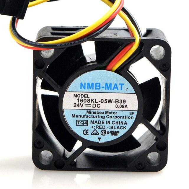 40 pcs 40*40*20mm 1608KL 05W B39 4020 24 V 0.08A Fanuc Ventilador Do Dissipador de Calor para Para NMB