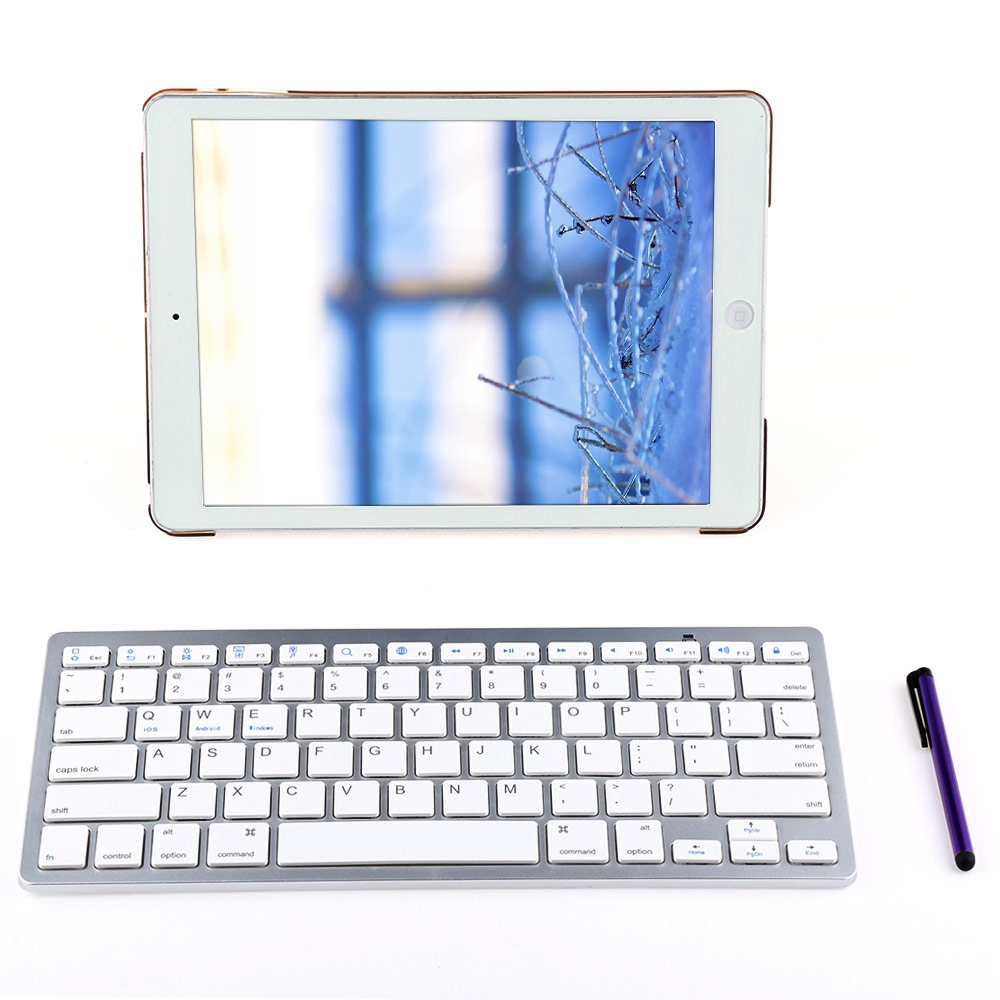4 In 1 Smart Tablet Cover Case Designed For iPad Air 2 With Wireless Bluetooth Keyboard High Quality PU Leather Protective Case