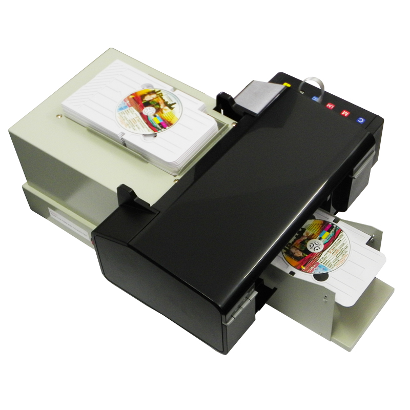 New Digital CD Printer DVD Disc Printing Machine automatic PVC Card Printers for Epson L800 with 50pcs CD/PVC Tray 2017 advanced cd uv coating coater dvd disc lamination machine with top quality maquina de laminacion de dvd