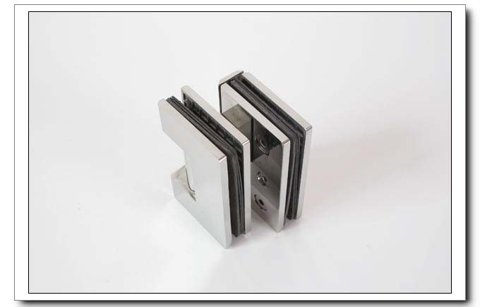 Frete grátis, 304 dobradiça do chuveiro de aço inoxidável, braçadeira de vidro de 90 graus, braçadeira de chuveiro, espelho terminado, fácil instalação, durável - 4