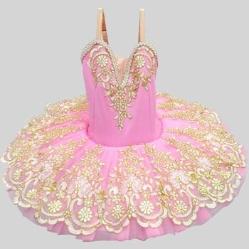 2019 New Children Girls Swan Lake Costume Professional Ballet Tutu Kid Ballerina Dress Ballet Leotards For Women Shiny Dancewear