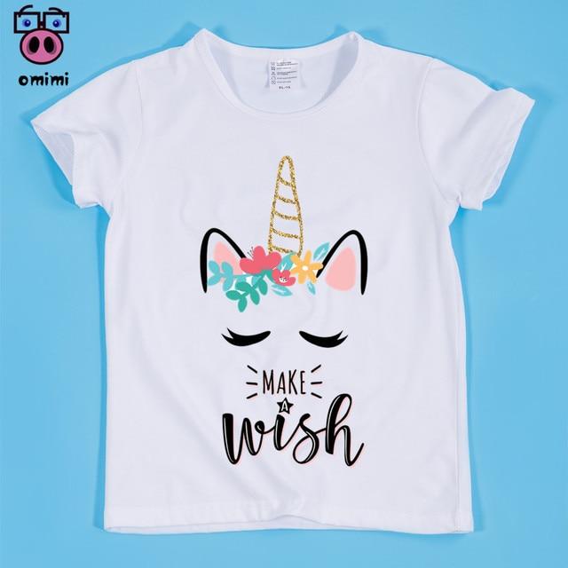 2209b4fef01 Unicorn Kawaii Design Print T shirts For Girl