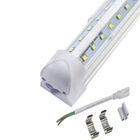 led 4ft led tube t8 18w 28W 36W 4 foot 5 foot t8 fluorescent T8 Integrated Clear cover warm white, cold white,cool white 85-265v