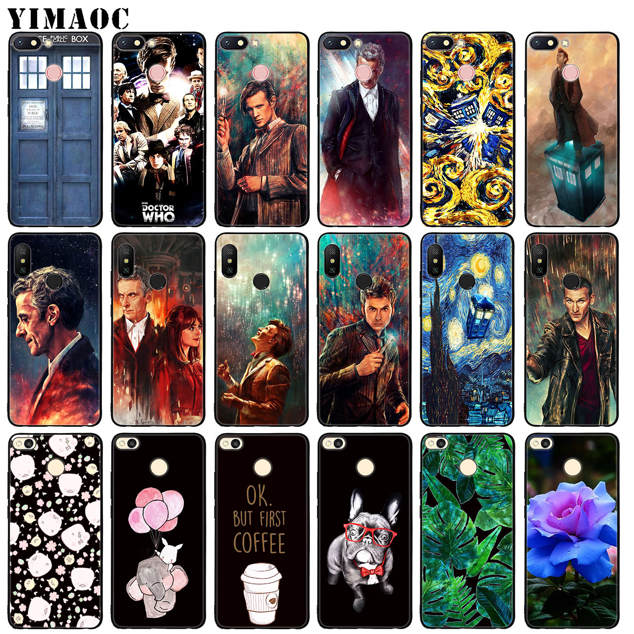 Audacious Yimaoc Tardis Box Doctor Who Soft Silicone Case For Xiaomi Redmi 6a 5a Note 7 4 4x 5 Plus 6 Pro Mi Plus Black Flower Tpu Cover Skilful Manufacture Cellphones & Telecommunications Phone Bags & Cases