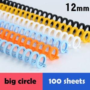 Image 1 - 10ピース/ロット12ミリメートル径GP 130N SP 30N 30パンチ穴26穴コイル結束プラスチックバインダーで高品質と郵送料料金