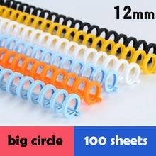 10 peças/lote 12mm diâmetro GP 130N SP 30N 30 furo de perfuração 26 buraco bobina encadernação plástico com alta qualidade e taxa de custo de transporte