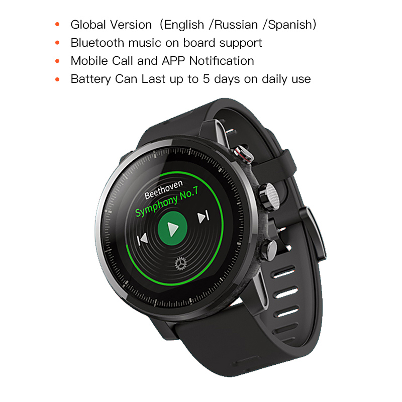 Huami Amazfit Stratos 2 Smartwatch Appel Rappel Bluetooth Musique GPS Support11 Sport Modes 5ATM Étanche Longue Attente Batterie - 2