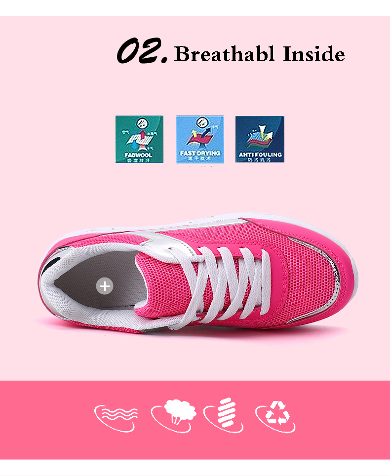 Air Mesh Women Casual Shoes Fashion Lace Up Shallow Shoes Woman Flat Heel Sport Trainers Size 35-40 Quality Walking Shoes ZD30 (5)