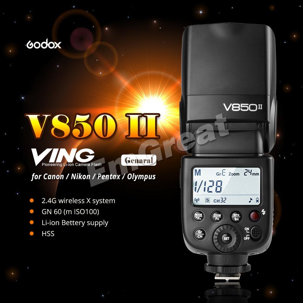 Godox V850II GN60 2.4G Wirless X Sistemi Speedlite ile Canon Nikon - Kamera ve Fotoğraf - Fotoğraf 2