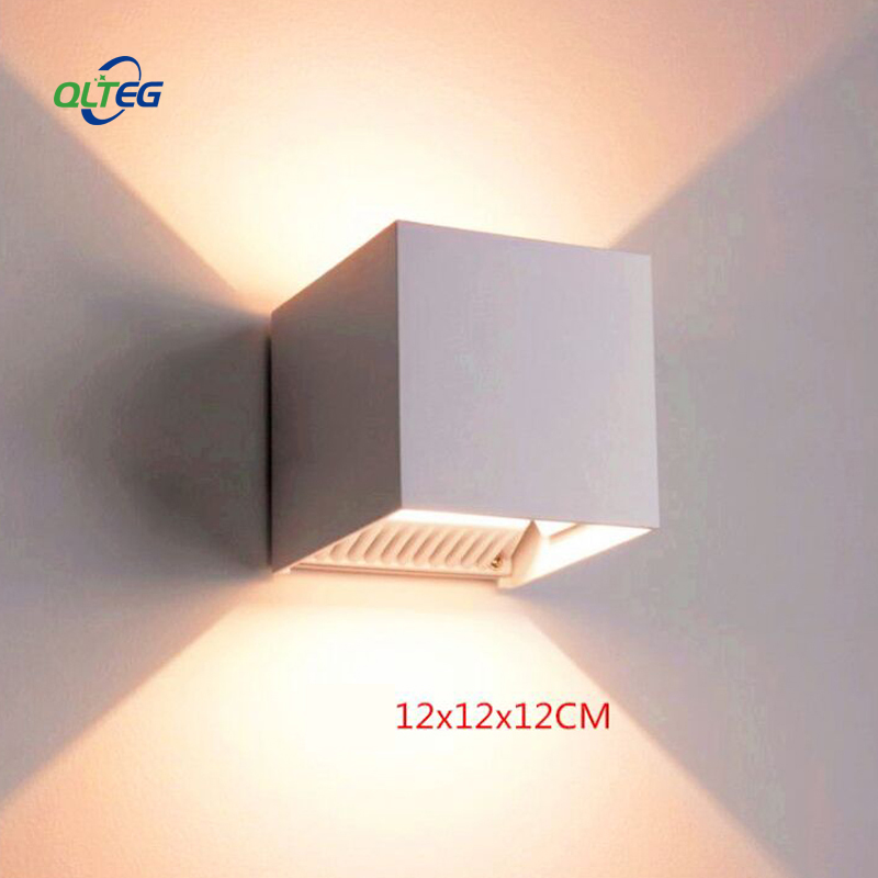 QLTEG 20W LED Wall Light Outdoor Waterproof IP65 Modern Nordic style Indoor Wall Lamp Living Room Porch Garden Lamp AC90-260V 18w led outdoor waterproof wall light ip65 modern nordic style indoor wall lamps living room porch garden lamp ac90 260v lp 42